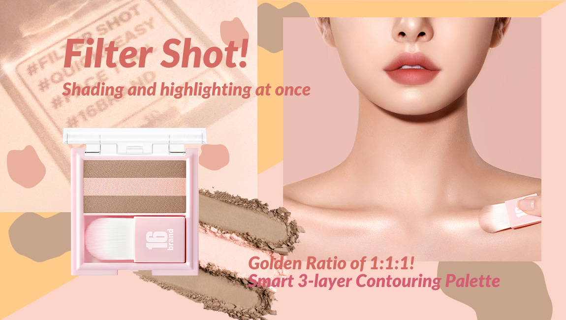 16 brand filter shot product contour peach color